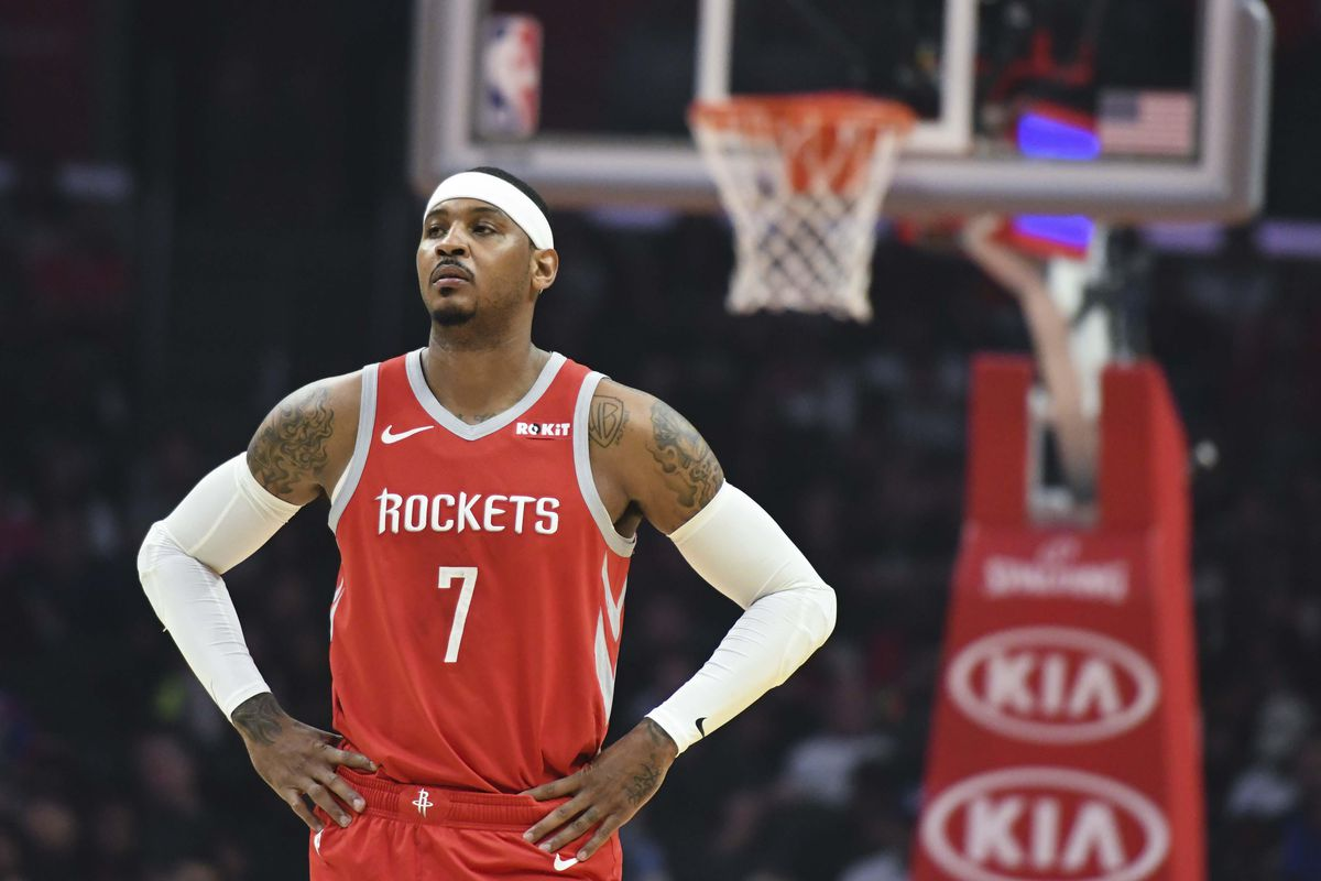 33ecbc187bb Houston Rockets 2018-2019 player recaps  Carmelo Anthony - The Dream ...
