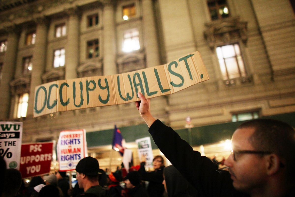 An Occupy Wall Street protester.