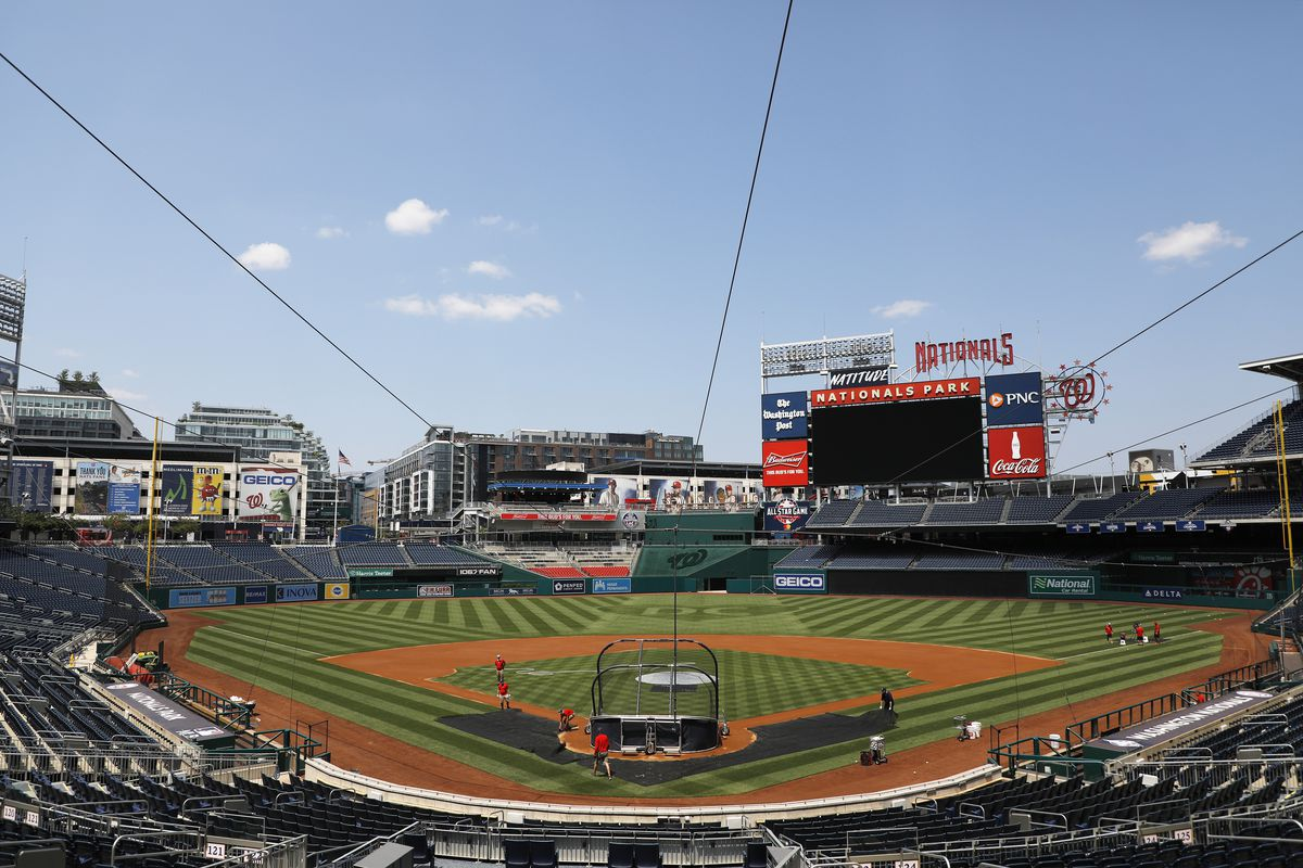 A general view during the Washington Nationals Summer Workouts at Nationals Park on July 03, 2020 in Washington, DC.