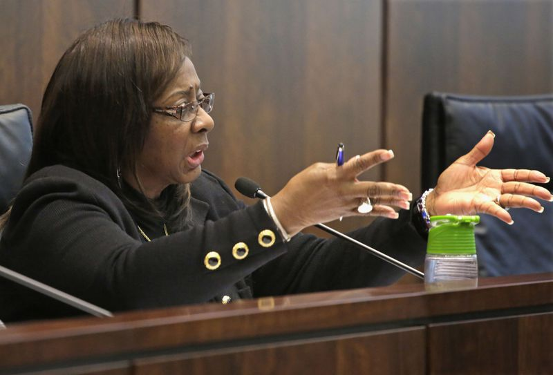 State Sen. Mattie Hunter speakers during a 2013 hearing held by the House Human Services Subcommittee.