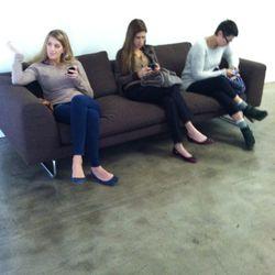 More stylish people waiting.