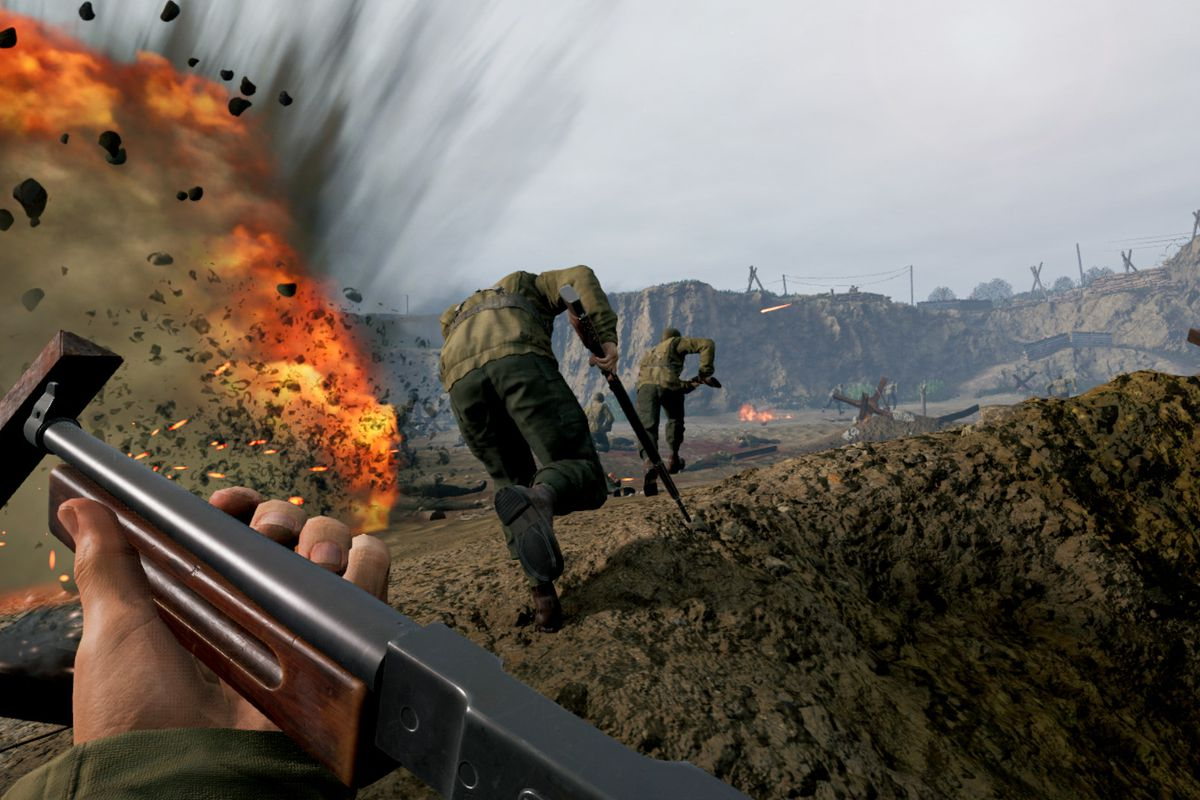 The D-Day landings, as depicted in Medal of Honor: Above and Beyond in VR.
