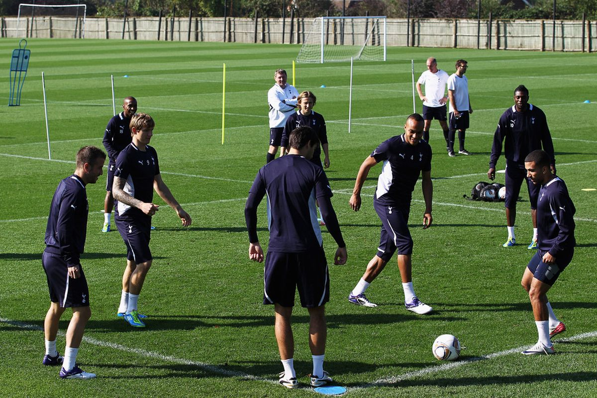 William Ekong isn't in this picture, but he has probably done this drill with some of these Tottenham Hotspur players.