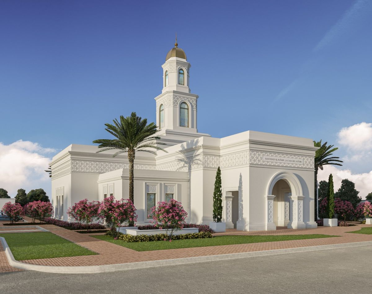 An exterior rendering of the Torreón Mexico Temple.