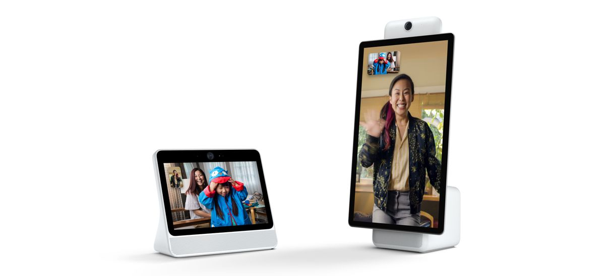Two tablet screens