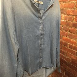 Hope chambray buttonless blouse, $83.40 (from $278)