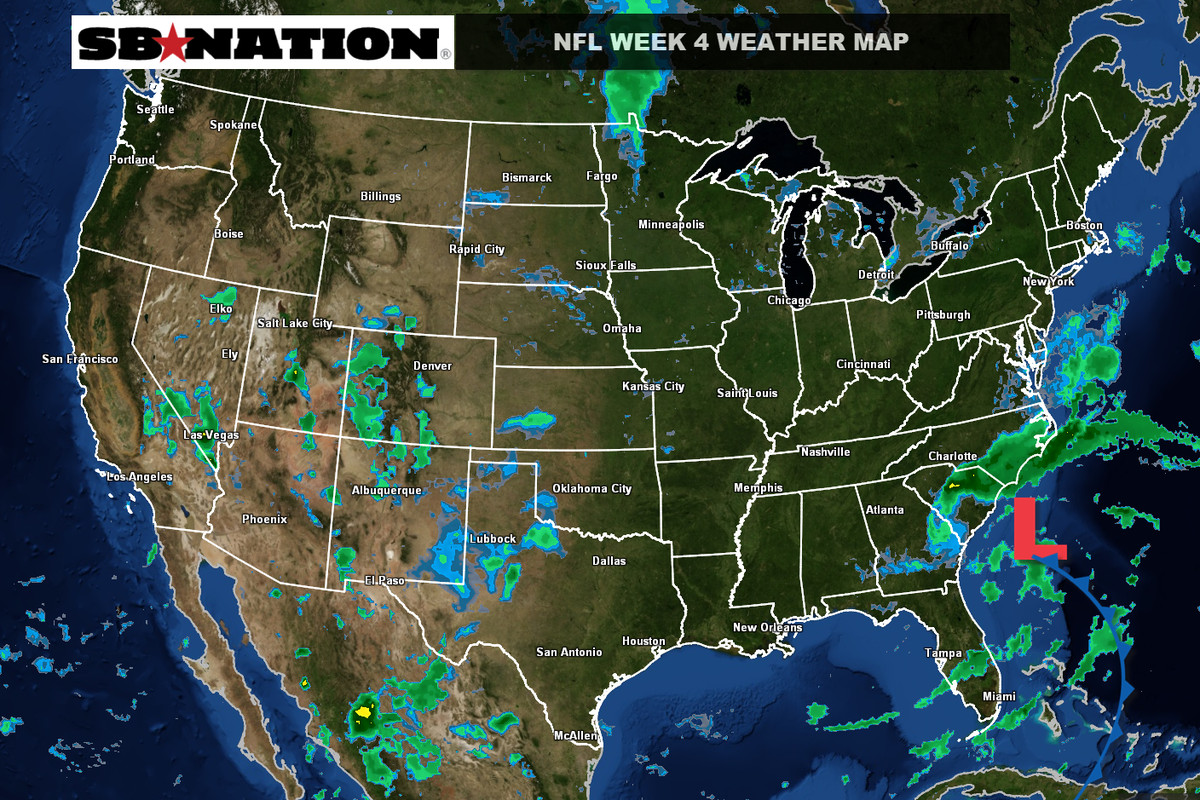 NFL weather forecast, Week 4: Some wet games this Sunday