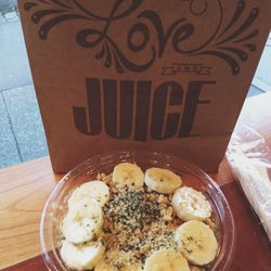 Eating on the go today—<b>Juice Generation</b> on Ninth Avenue. Today I went with the Amazing Green Bowl—I can always use more greens in my life. Fueled up and ready for more EMpowered personal training sessions!
