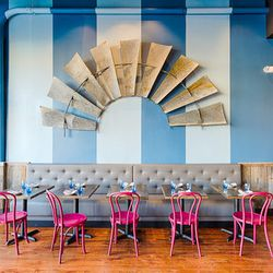 """End your Adams Morgan day with dinner at the brand new <a href=""""http://roofersuniondc.com"""">Roofers Union</a> (2446 18th Street NW), a new restaurant from the team behind Cleveland Park's Ripple. Chef Marjorie Meek-Bradley is serving up elevated junk food"""