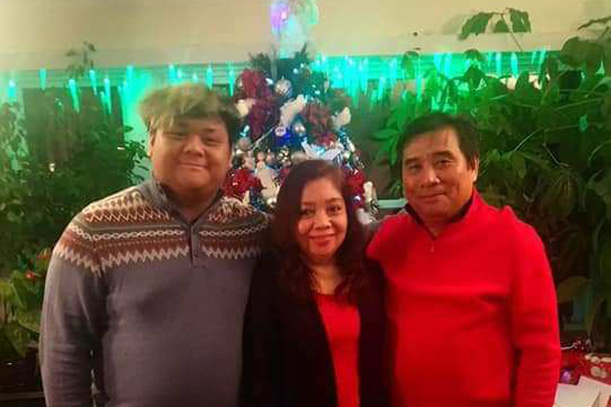 Luis Tapiru (right) is still struggling with the loss of his son Luis Tapiru II and his wife Josephine from COVID-19 last April. It nearly killed him, too.