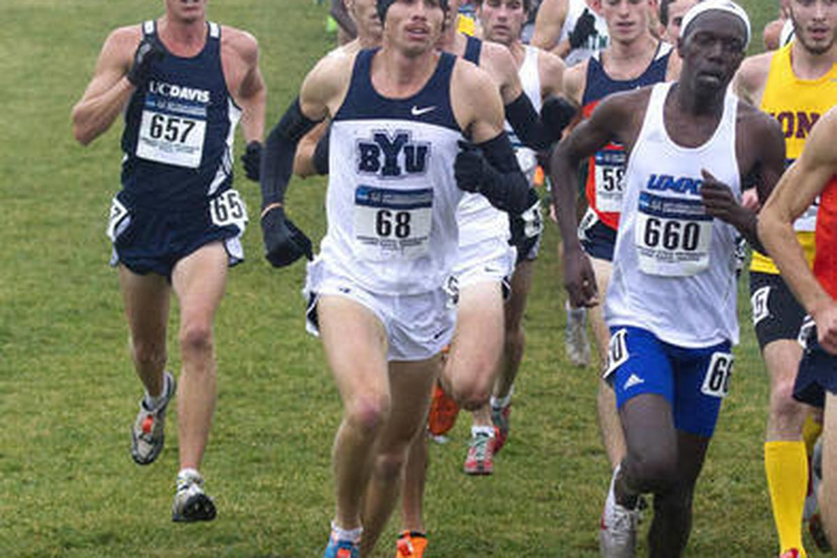 2011 NCAA Cross Country Championship hosted by Indiana State University at Terra Haute, Indiana. BYU men's team place 4th with 203 points.