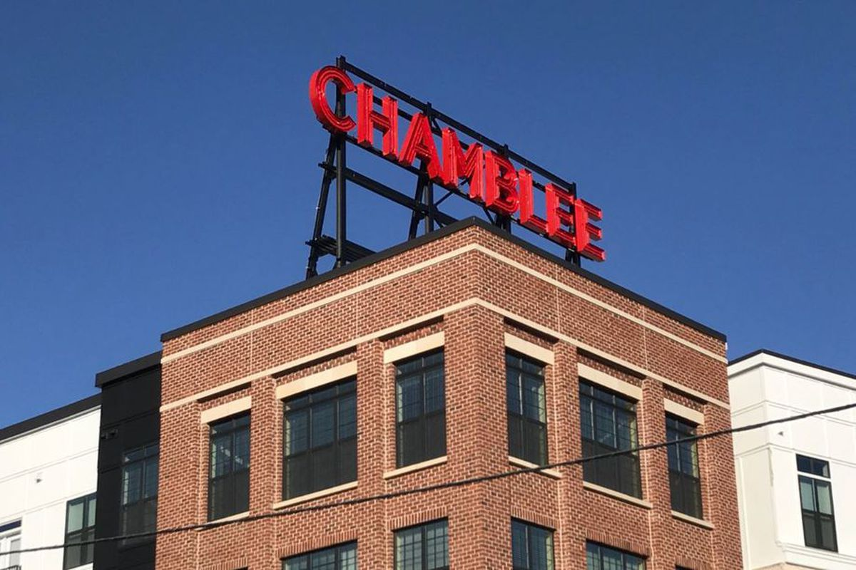 A photo of Chamblee's The Olmsted which debuted this past summer, furthering a trend toward urbanism.