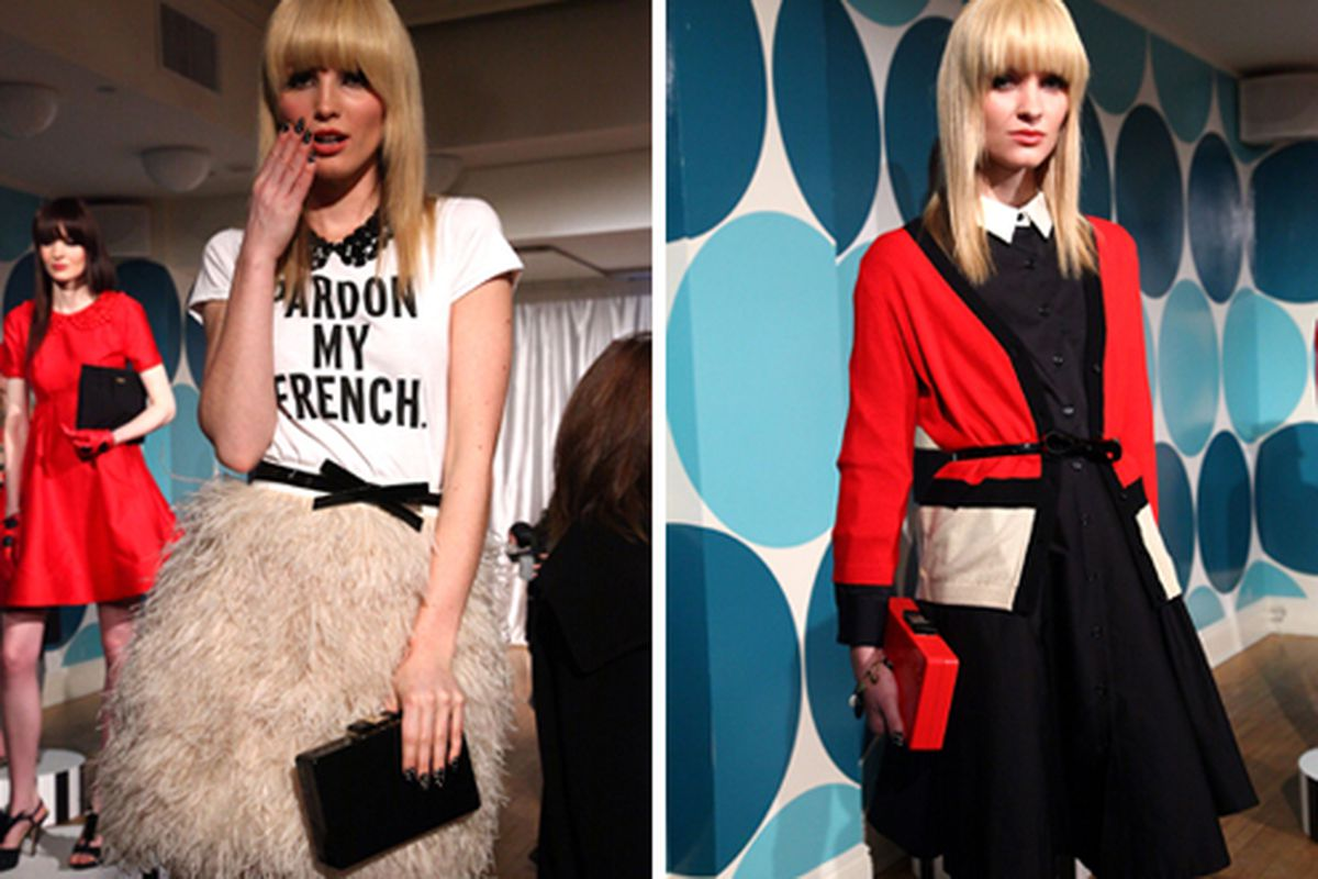 Two looks from Kate Spade's Fall 2012 collection via Getty