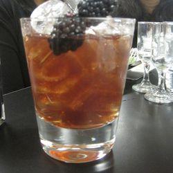 The Pom-Blackberry Balsamic Bourbon cocktail coming to Edgar.