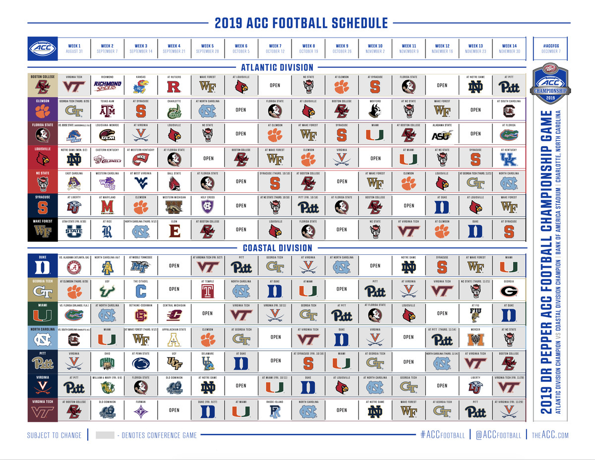 2019 Notre Dame Football Schedule ACC Is Treating Its Schedule Against Notre Dame Like They're Bowl