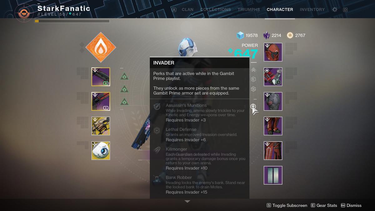 Invader Gambit Prime armor set