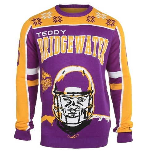 Teddy Christmas Sweater front