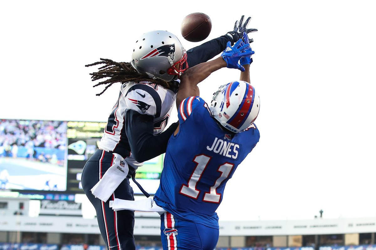 premium selection b7317 6f137 Film review: Bills were trying to target Patriots CB Stephon ...