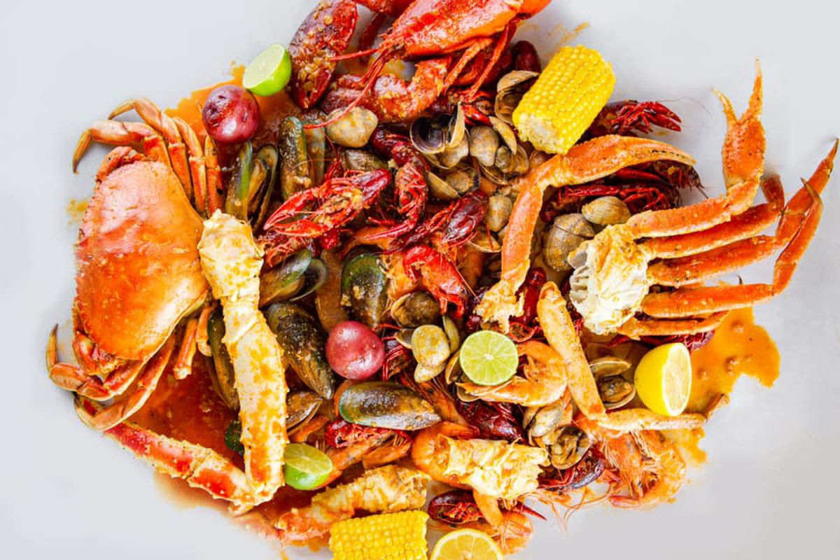 A crab seafood boil