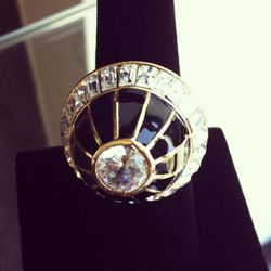 """""""I love this dome shape."""" Tassel Collection ring, $195"""