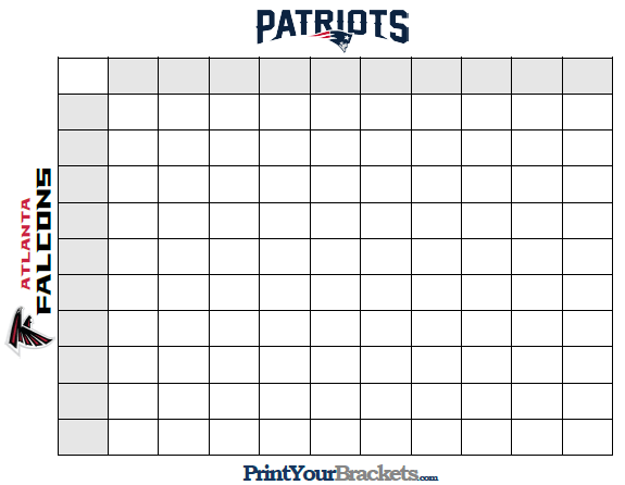 Super Bowl Squares Template How To Play Online And More Sbnation Com