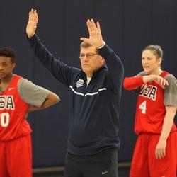 USA Women's Basketball head coach Geno Auriemma