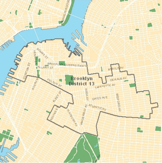 District 13 in Brooklyn includes Brooklyn Heights, Vinegar Hill, DUMBO, and other neighborhoods. (Photo credit: New York City Department of Education)