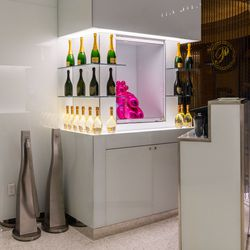 The champagne lounge at Mr Chow