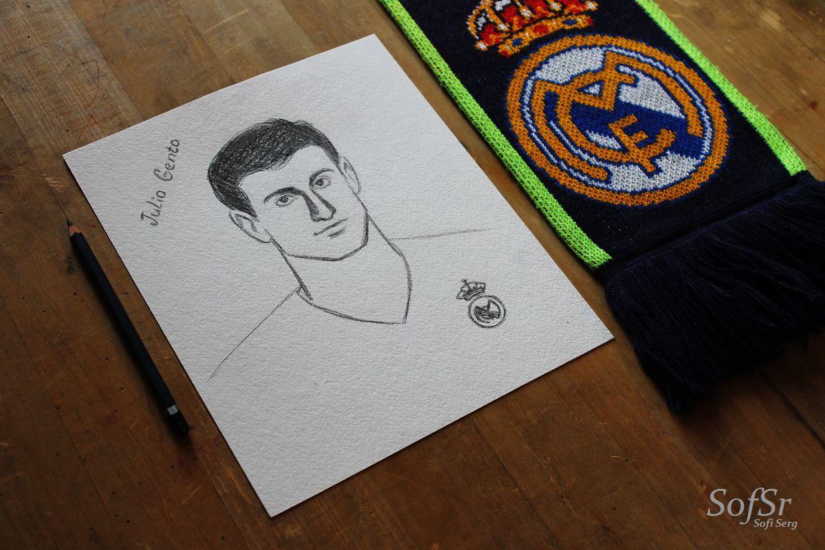 Julio Gento. Drawing by Sofi Serg.