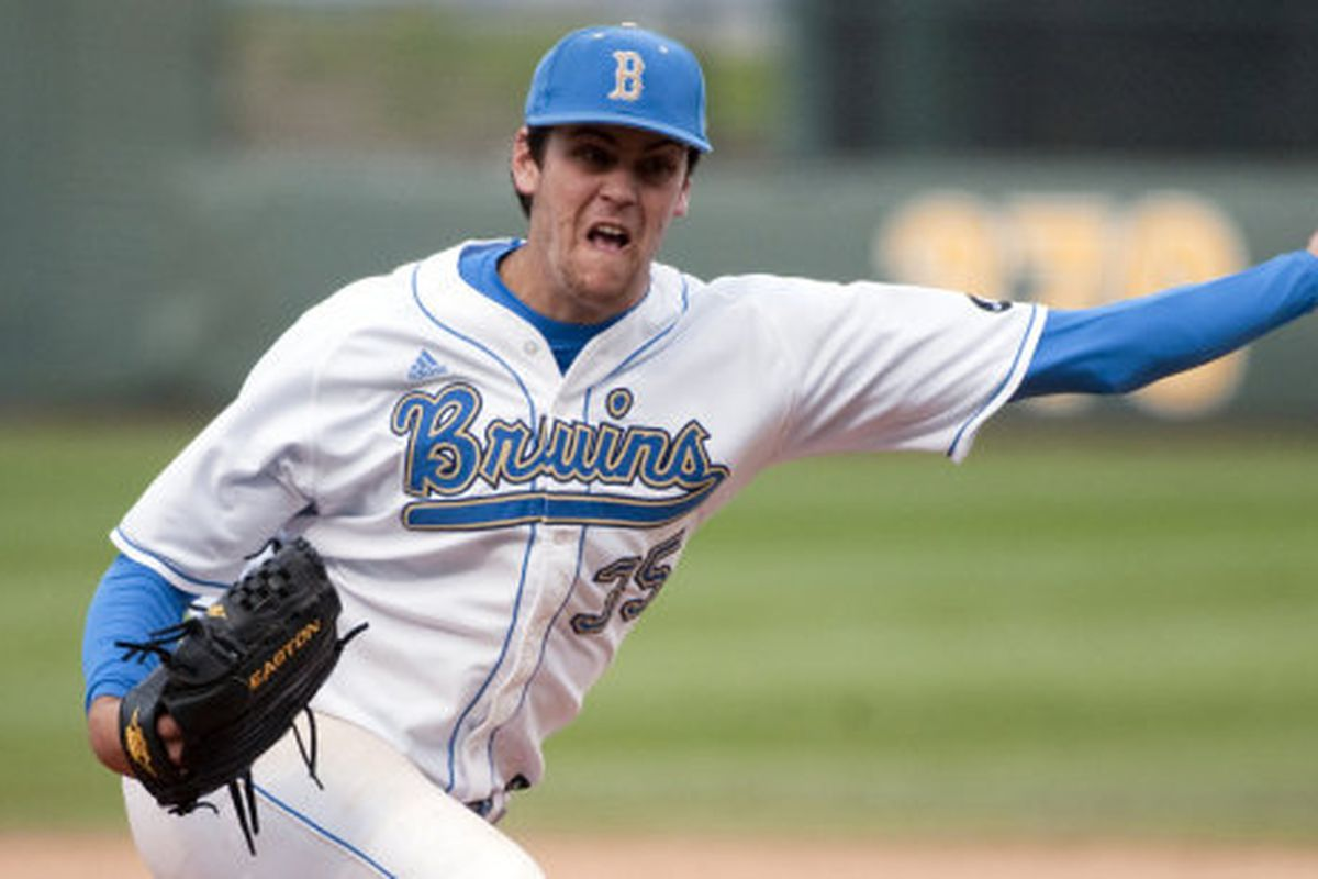 Mitchell Beacom and the UCLA bullpen couldn't close the door on the sweep (Photo Credit: Official Site)