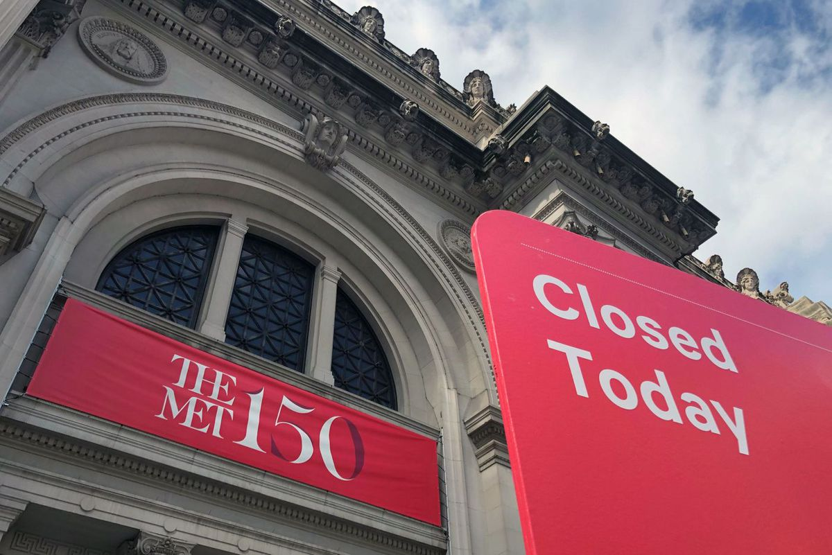 Cultural institutions, including the Metropolitan Museum of Art were forced to close due to the coronavirus.