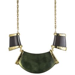 """<b>Alexis Bittar</b> Color Block Necklace in sage, <a href=""""http://www.alexisbittar.com/product.php?productid=25584&cat=339&page=1&defvarid=23787"""">$245</a>"""