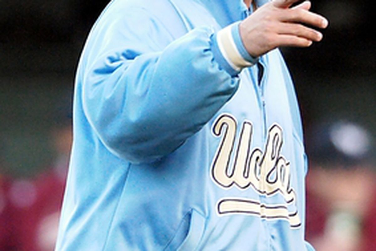 """UCLA head baseball coach John Savage took part in SoCal College Baseball Media Day (Photo Credit: <a href=""""http://uclabruins.com"""">Official Site</a>)"""