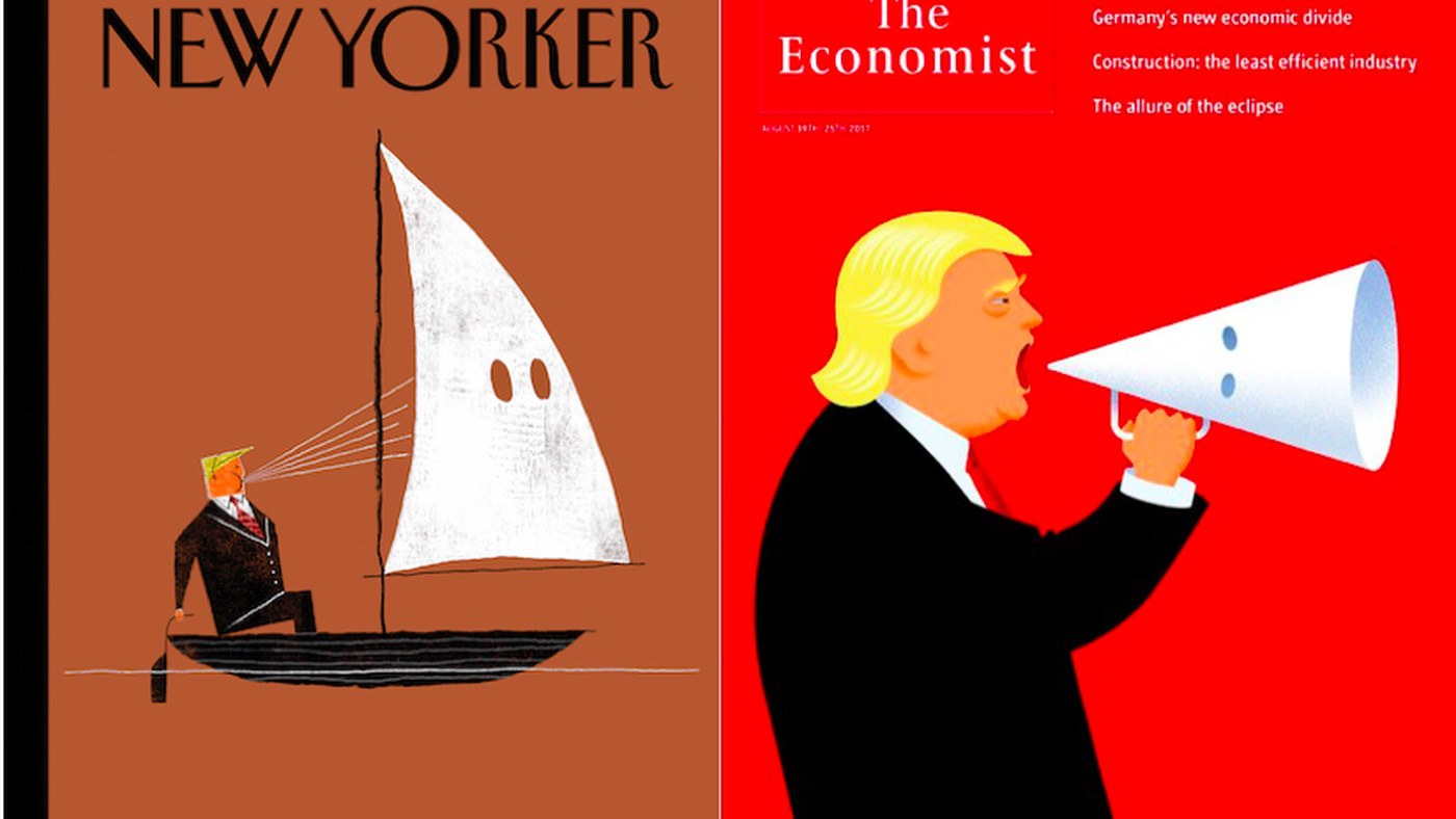The New Yorker and The Economist covers blast Trump - Vox