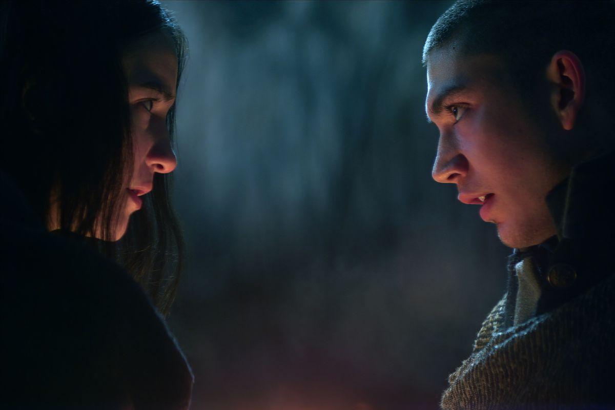 alina and mal making intense eye contact