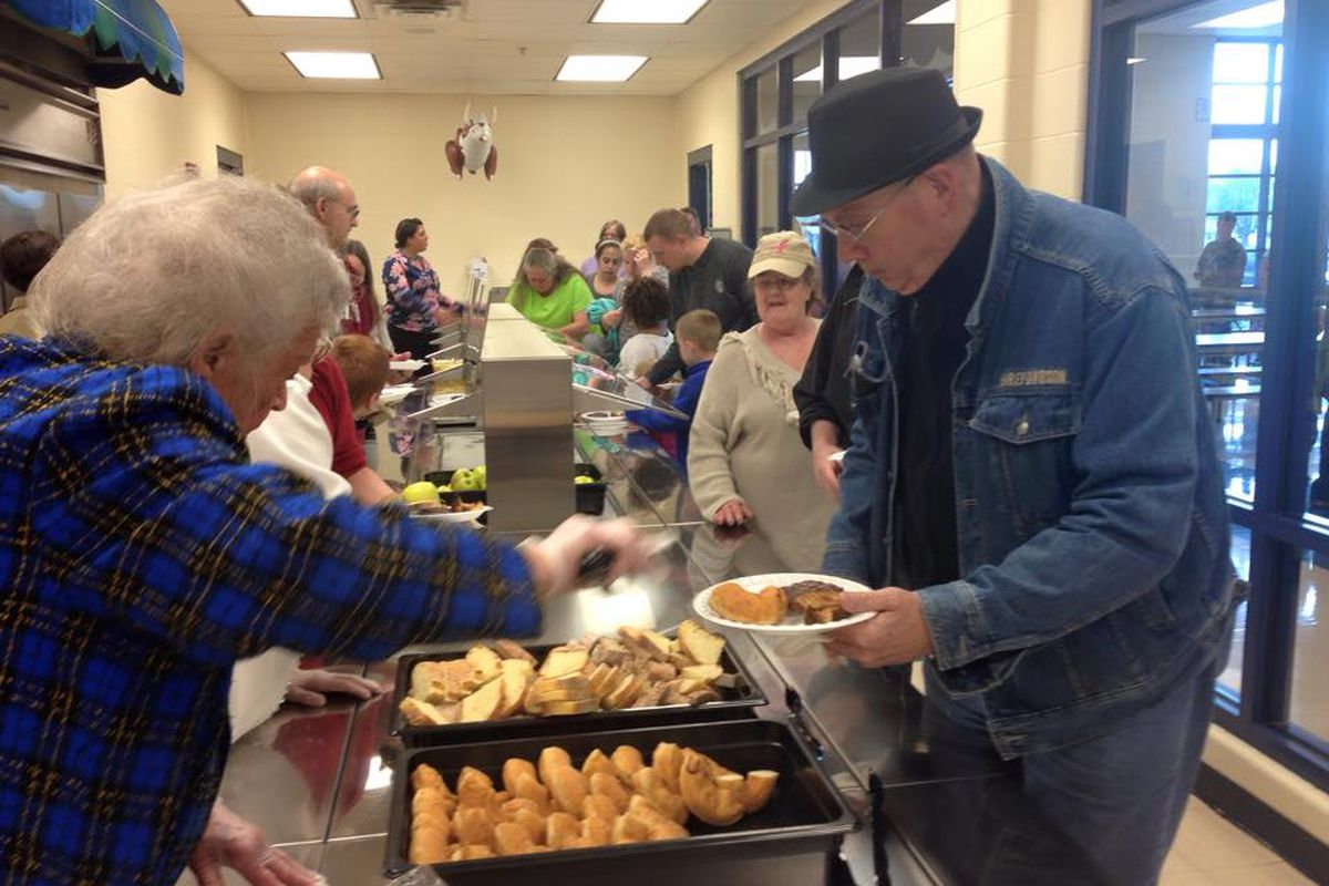 Goodwin seniors serve Tuesday lunch at the center. Next door, Stephen Decatur Elementary School also provides free dinners each week. The program is part of how the district connects with the people and organizations around them.
