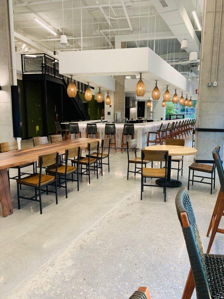 Dining space at Savor at Studio 3807