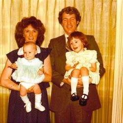 Bob & Jackie Dull holding their daughters Erin & Rachel at the time we were teaching Bob.