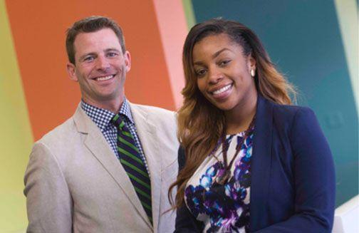 Enlace Academy leaders Kevin Kubacki and Shanae Staples.
