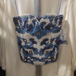 Beaded corset top, $279 (was $698)