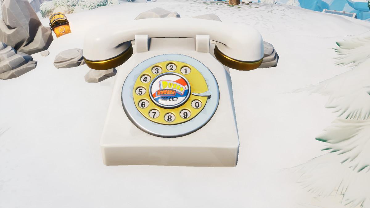 The big Durrr Burger telephone in Fortnite