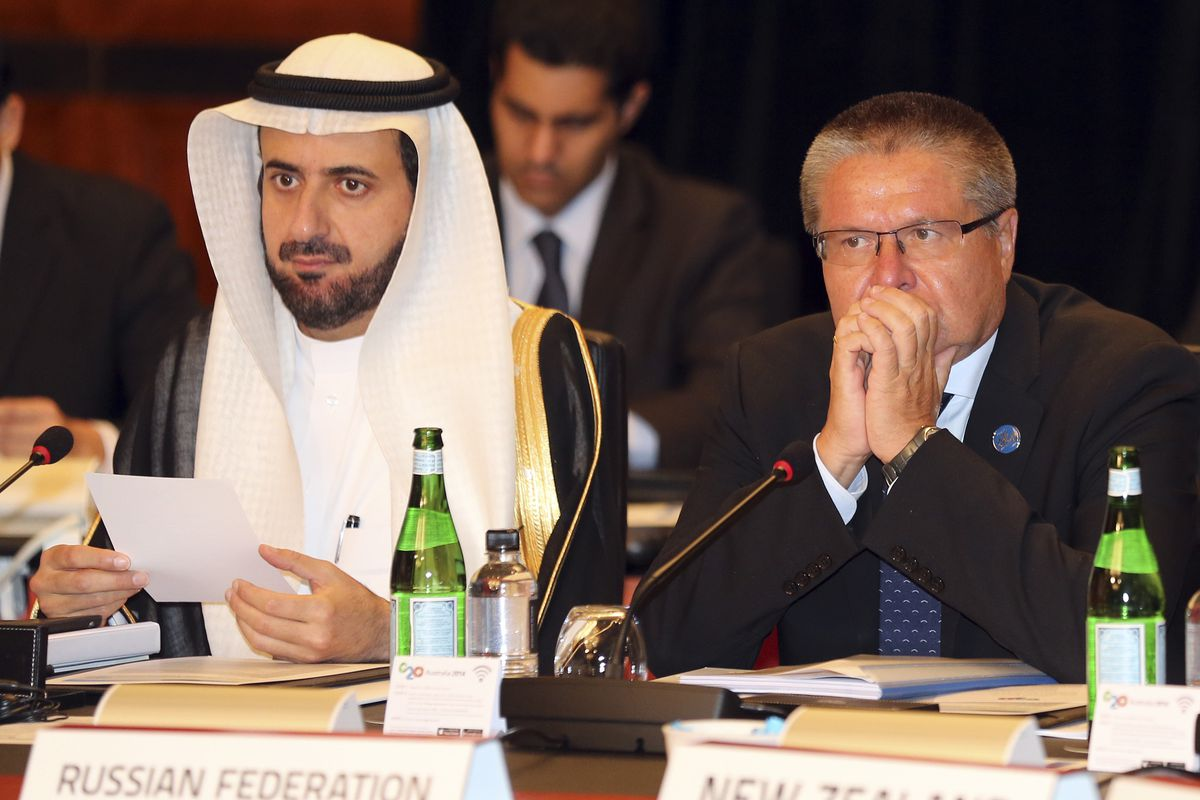 Saudi and Russian trade ministers have a pow-wow.