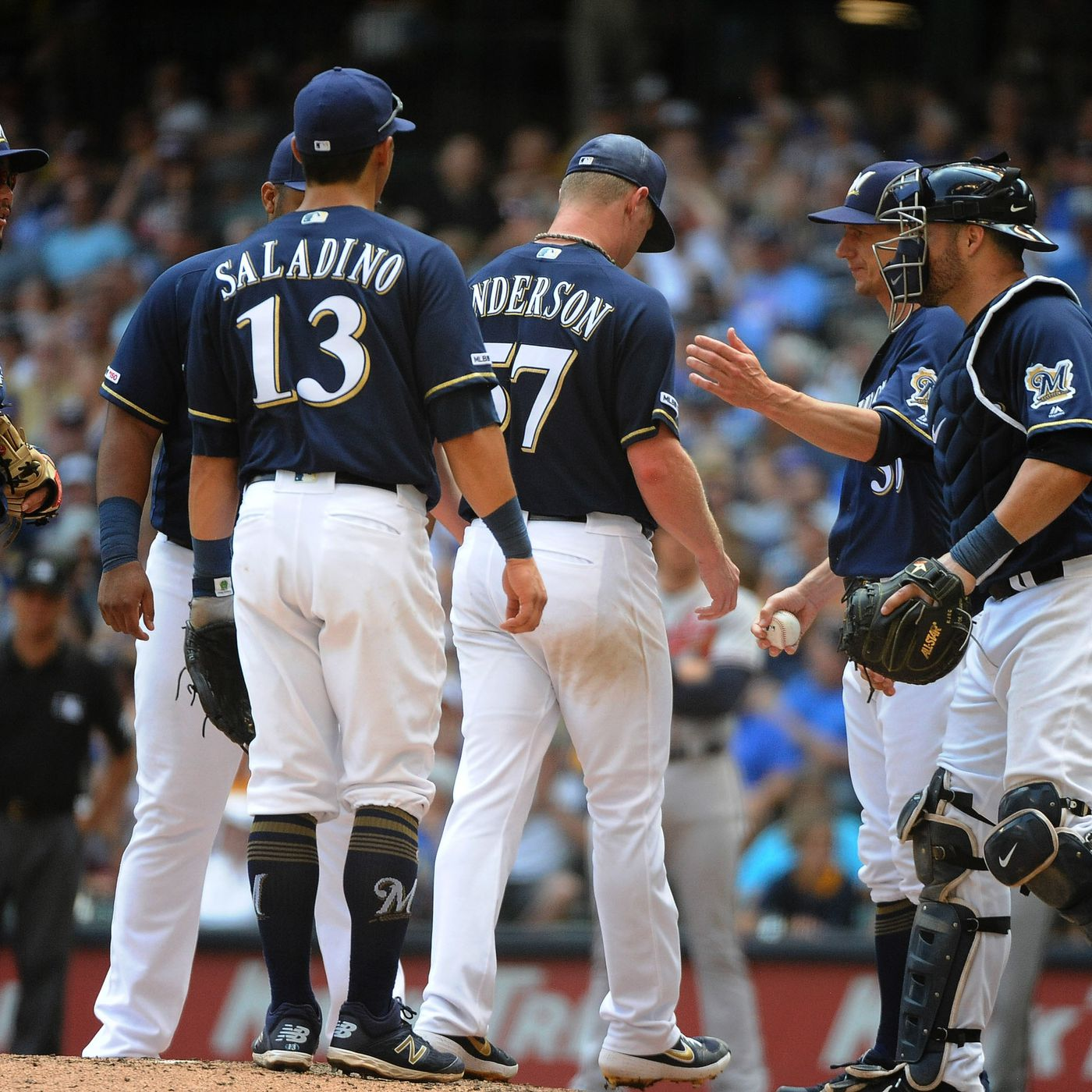 Milwaukee Brewers pitching has had problems on 0-2 counts - Brew