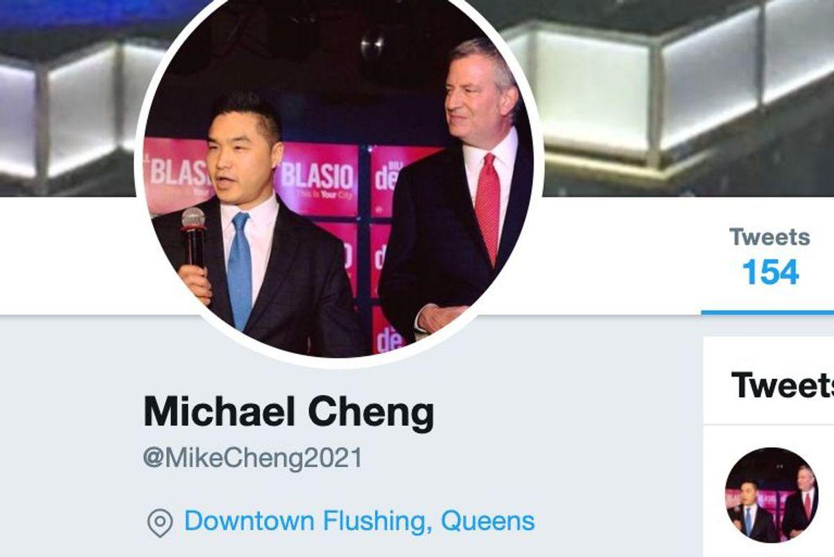Michael Cheng and Bill de Blasio