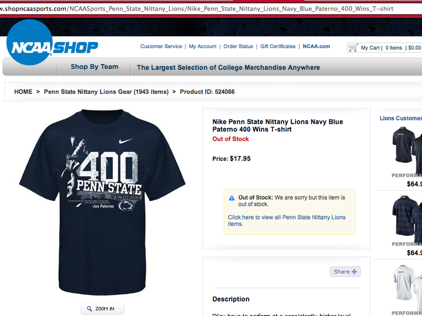 0b1d3b40 NCAA to stop selling player jerseys (but how about that Paterno shirt?)