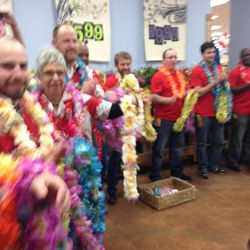The lei gauntlet.