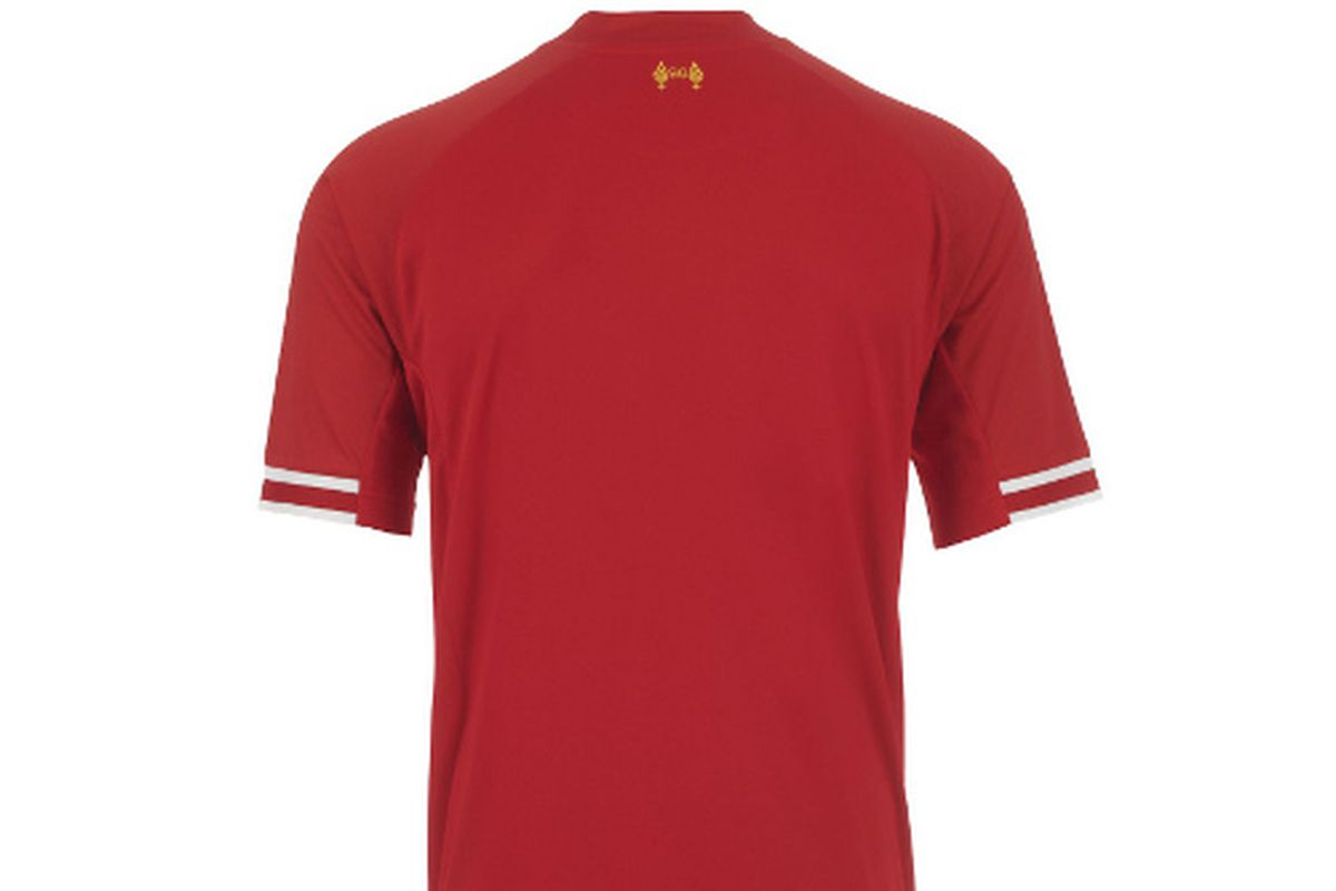 Liverpool's new home kit.