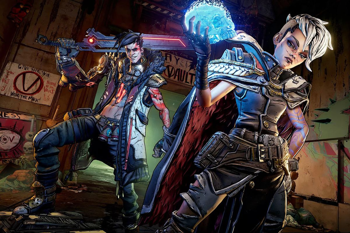 An image of the two main villains from Borderlands 3
