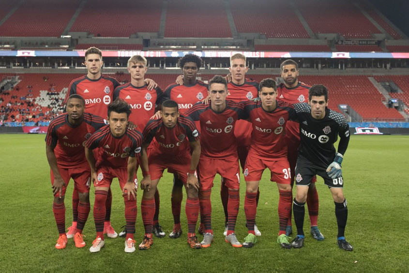 USL Photo - TFC II lineup for a prematch picture ahead of their match against NYRB II at BMO Field