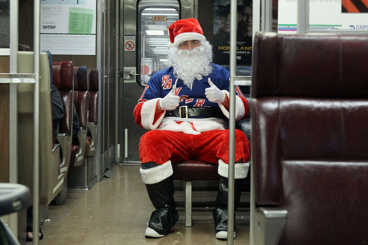 """Reindeer ran out of gas."""